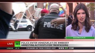 Authorities take over Venezuelan embassy and arrest activists