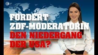 Fordert ZDF-MODERATORIN den UNTERGANG der USA?