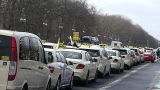 Demo Berlin 19 Februar 2021 Taxi Fahrer