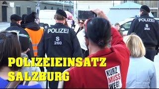 Polizeieinsatz Salzburg: DEMONSTRATION | 21.02.2021
