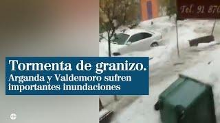 Spanien - Madrid - Überflutungen und Eiswasser durch Hagel