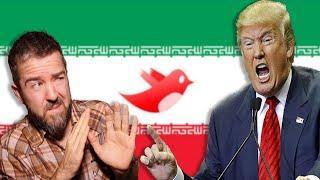 Trump Invokes WAR WITH IRAN with ALL CAPS TWEET (SUPER SERIAL AAAAAHHH!!)