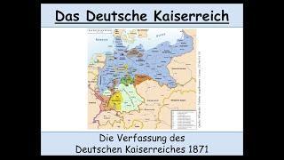 Die Verfassung des Deutschen Kaiserreiches von 1871 erklärt (Verfassung Deutsches Kaiserreich)