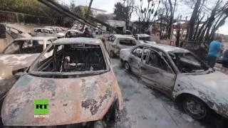Brandkatastrophe in Griechenland: Im Badeort Mati nach dem Feuertsunami 26 Leichen gefunden