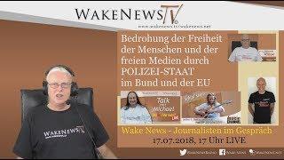 Bedrohung der Freiheit der Menschen und der freien Medien durch POLIZEI-STAAT im Bund und der EU