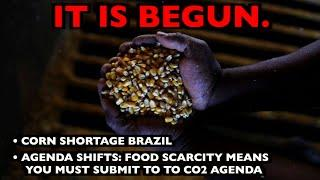 IT IS BEGUN:  Corn Shortage Brazil - Food Scarcity Means Submit to Greta