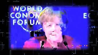ANGELA MERKEL HOLOGRAM MALFUNCTION LIVE!