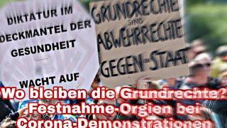 Wo bleiben die Grundrechte? Festnahme-Orgien bei Demonstrationen