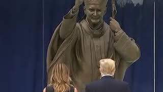 "Trump visits ""Saint"" Pope John Paul II National Shrine in Washington (June 2nd 2020)"