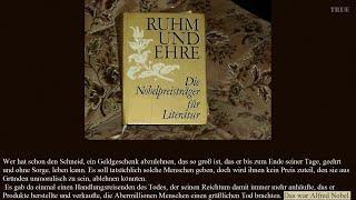 Nobelpreis - Alfred Nobel - Ruhm und Ehre - keine Ehre
