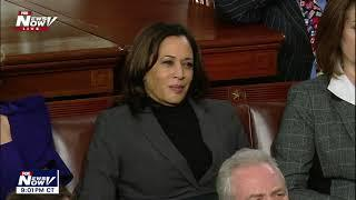 THE LOOK: Kamala Harris & Dems NOT HAPPY while Trump talks about illegal immigrants