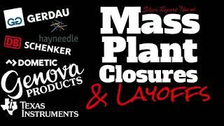 Mass Layoffs And Plant Closures 2020, Manufacturing Job Cuts Surge! Texas Instruments, DB Schenker..