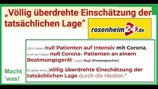 """Rosenheim - """"Völlig überdrehte Einschätzung der tatsächlichen Lage"""", so rosenheim24.de"""