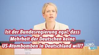 Ist Bundesregierung egal, dass Mehrheit keine US-Atombomben in Deutschland will?