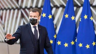 French President Emmanuel Macron slapped in the face