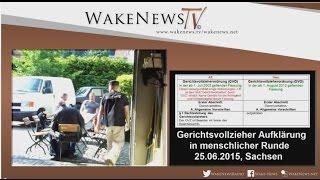 Gerichtsvollzieher-Aufklärung in menschlicher Runde, Sachsen 20150625