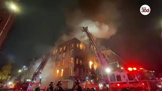 New York  Historic Middle Collegiate Church engulfed in fire !