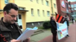 !!!! Protest !!!  gegen deutschen Justiz Faschismus Schließung Amtsgericht Hagenow Mecklenburg 2015