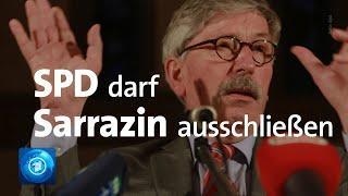 SPD-Kommission bestätigt Parteiausschluss von Thilo Sarrazin