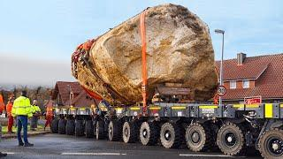 Salvage of a 102 tons Glacial Erratic Rock   Heavy Haulage