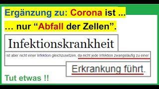 Ergänzende Nachrichten aus der Wissenschaft: Corona ist nicht das, was wir glauben