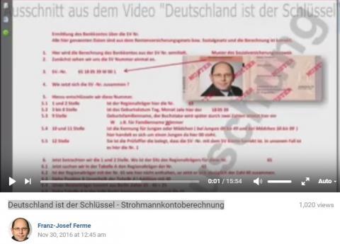 Deutschland ist der Schlüssel - Strohmannkontoberechnung