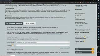 Petition 88260 - Stopp 5G - Schwankende Zahlen
