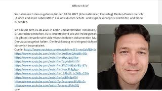 28.05.2021 Berlin   Offener Brief an die Berliner Polizei, Versammlungsbehörde