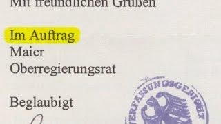 """Rechtwissen = Unterschrift """"Im Auftrag"""""""