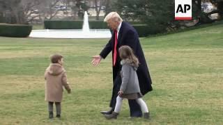 Donald Trump mit seinen Enkeln - Kinder von Ivanka und Jared