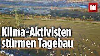 """Klima-Aktivisten """"Ende Gelände"""" besetzen Tagebau"""