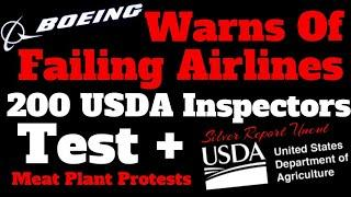 Boeing Warns Major Airlines Could Fail, 200 USDA Meat Plant Inspectors Confirmed, More In Isolation