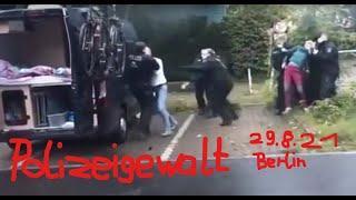 Schikanöse Polizeikontrolle eskaliert: Polizeigewalt gegen Marburger Camper in Berlin