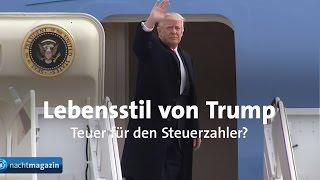 Ekelhafter Kotzbericht deutscher Medien: Was kostet der US-Präsident die Steuerzahler in den USA?