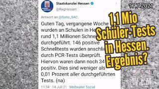 1,1 Mio. Tests an Schulen in Hessen wegen 0,01% positiv