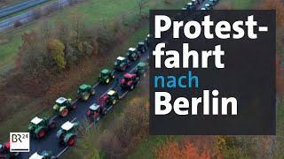 Bauernproteste: Mit dem Traktor zum Brandenburger Tor | Abendschau | BR24
