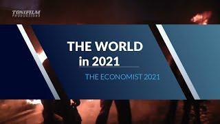 """Die Welt in 2021  - Das neue Cover des Elitenmagazins """"The Economist"""""""