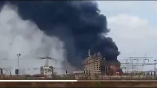 VENEZUELA: Massive Fire Strikes Transformer Plant Near Caracas