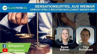 ???? Gericht in Weimar urteilt: Corona-Maßnahmen verfassungswidrig! Beate Bahner ordnet das Urteil e