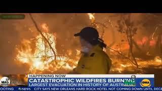 Reporterin mitten im Feuer (Australien / Waldbrände)?