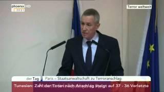 """""""Terroranschlag"""" Pressekonferenz des französischen Staasanwalts am 27.06.2015"""
