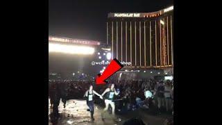 COMPILATION VIDEO: Las Vegas Shooting Mandalay Bay Girl Shot in HEAD & Man Dies in FRIENDS ARMS