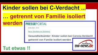 Gesundheitsämter: Kinder sollen bei Corona Verdacht getrennt von Familie isoliert werden (nw.de)