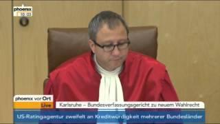 Urteil BVG zum neuen Wahlrecht am 25.07.2012