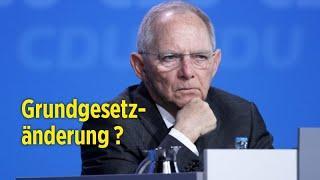 Breiter Widerstand gegen Schäubles Vorstoß für Grundgesetzänderung