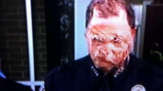 Hologramm versagt extrem bei Reptiloidem / A Police Chiefs Alien Transformation!!