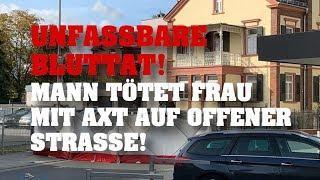 UNFASSBARE BLUTTAT! Limburg - Mann überfährt Frau und tötet sie mit Axt!