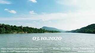 Ich sehe die Welt im Frieden...Friedenskette Bodensee 03.10.2020