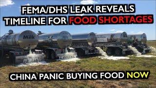 FEMA/DHS Food Shortages Timeline Leaked / China Panic Buying Food / Have Hope