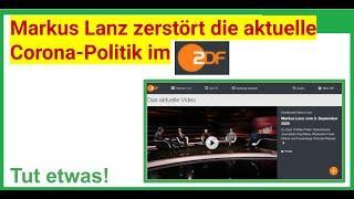 Markus Lanz zerstört die aktuelle Corona Politik im ZDF am 03.09.20